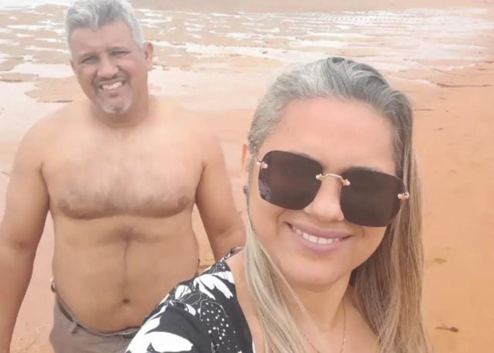 Douglas Santos Silva e a esposa — Foto: Reprodução/Redes Sociais