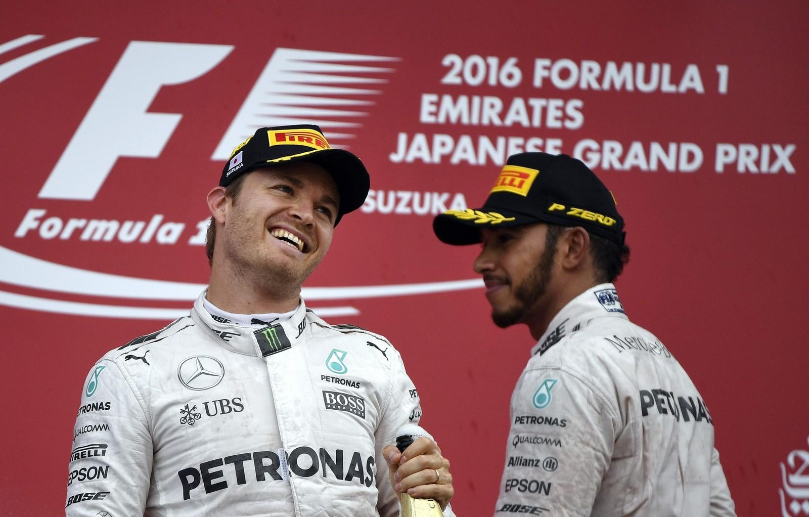 Nico Rosberg a remporté le Grand Prix du Japon l'an dernier, alors que Hamilton n'était que troisième. (Photo: Reuters)