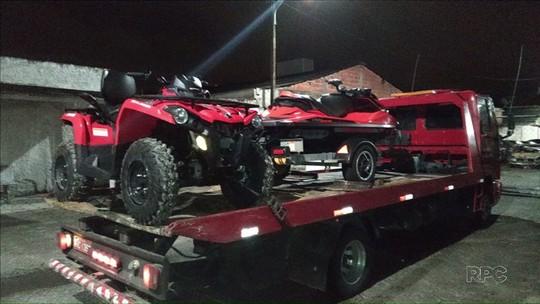 Polícia recupera duas motos aquáticas e um quadriciclo levados em furto milionário