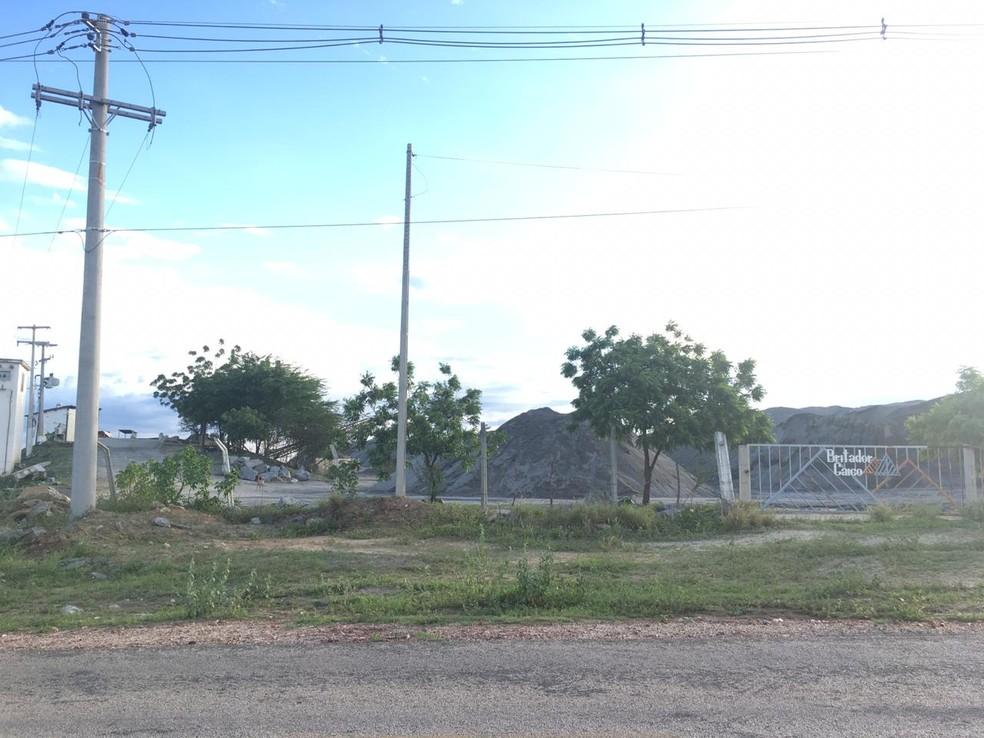 Polícia registra furto de 75 quilos de explosivos em pedreira de Caicó, na região Seridó potiguar — Foto: Taelyson Costa/Cedida