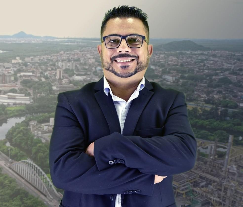 Vereador Anderson Gallo, de Cubatão, morreu aos 44 anos por complicações da Covid-19 — Foto: Redes Sociais