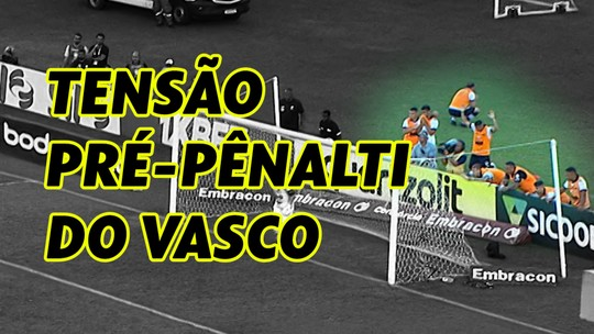 Luxemburgo sem olhar, Danilo ajoelhado, Bruno César de costas... Veja a tensão pré-pênalti do Vasco