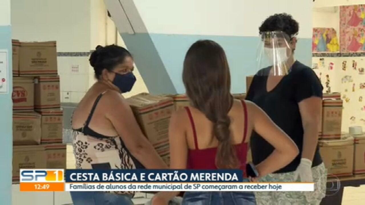 Prefeitura da capital começa a distribuir cestas básicas nas escolas