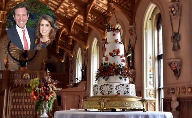 Bolo de casamento da Princesa Eugenie e Jack Brooksbank (Foto: Instagram/ Reprodução)