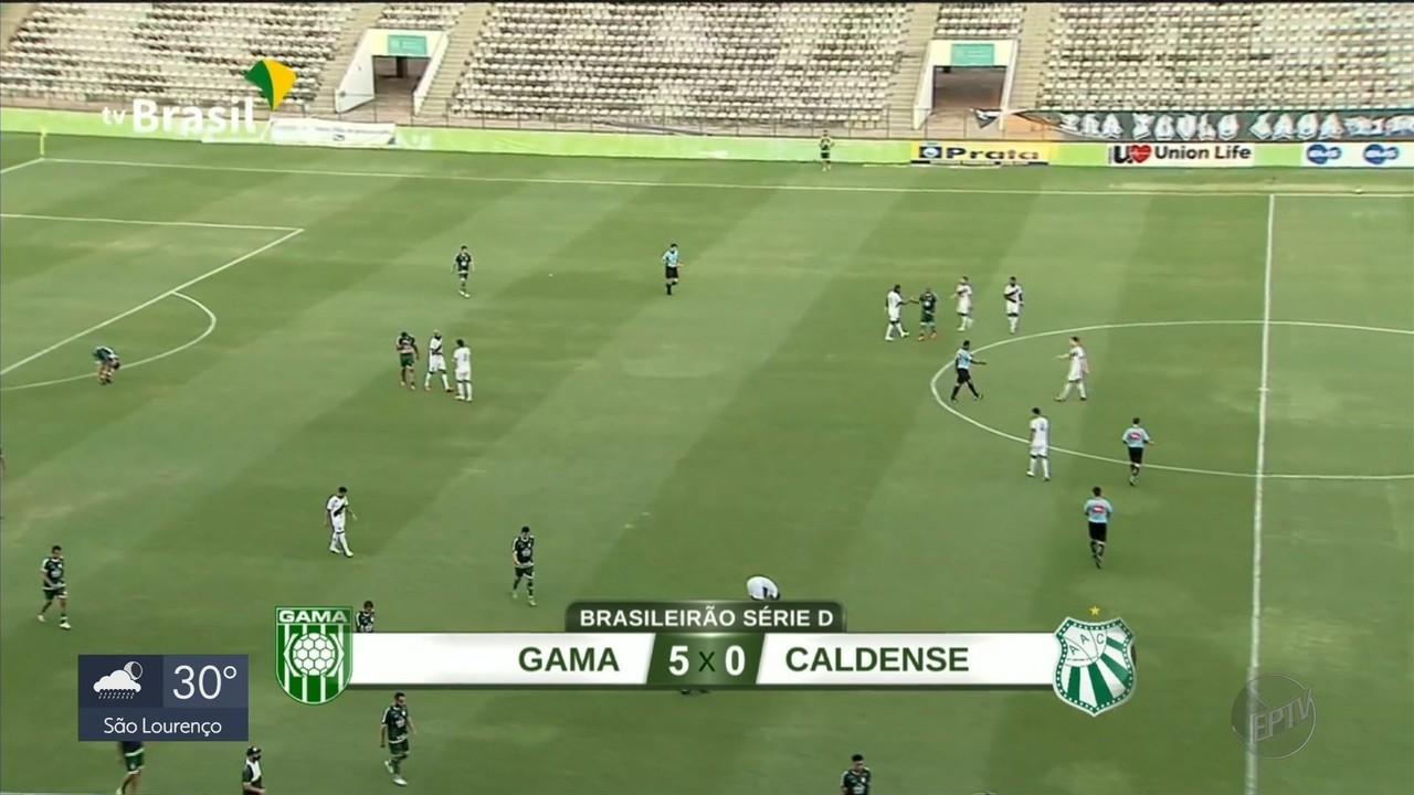 Caldense é goleada pelo Gama em Brasília e segue sem vencer na Série D