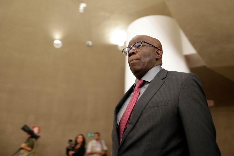 Ex-ministro do STF Joaquim Barbosa publicou apoio a Fernando Haddad (PT) na reta final do 2º turno — Foto: Ueslei Marcelino/Reuters