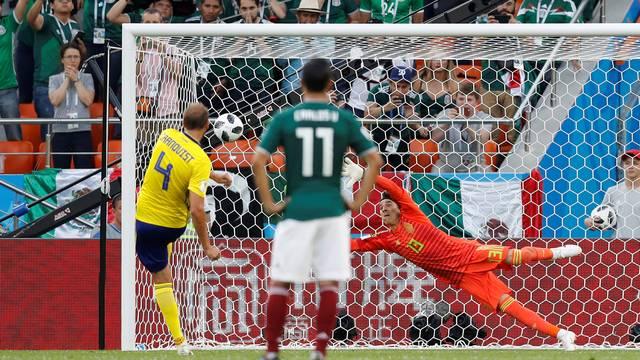 Andreas Granqvist Suécia x México Copa do Mundo 2018