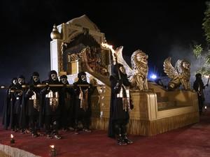 Alegoria marca a entrada do Rei Herodes (Foto: Divulgação/Assessoria)