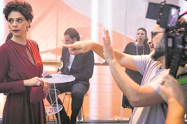 José Luiz Villamarim e Malu Galli (Foto: TV Globo/João Cotta)