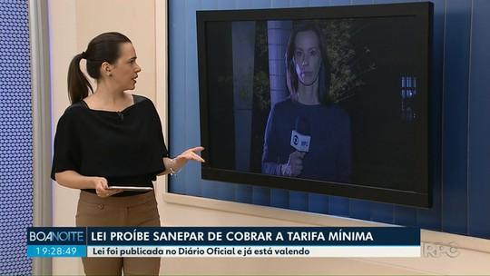 Maringá publica lei que proíbe Sanepar de cobrar tarifa mínima de água e esgoto