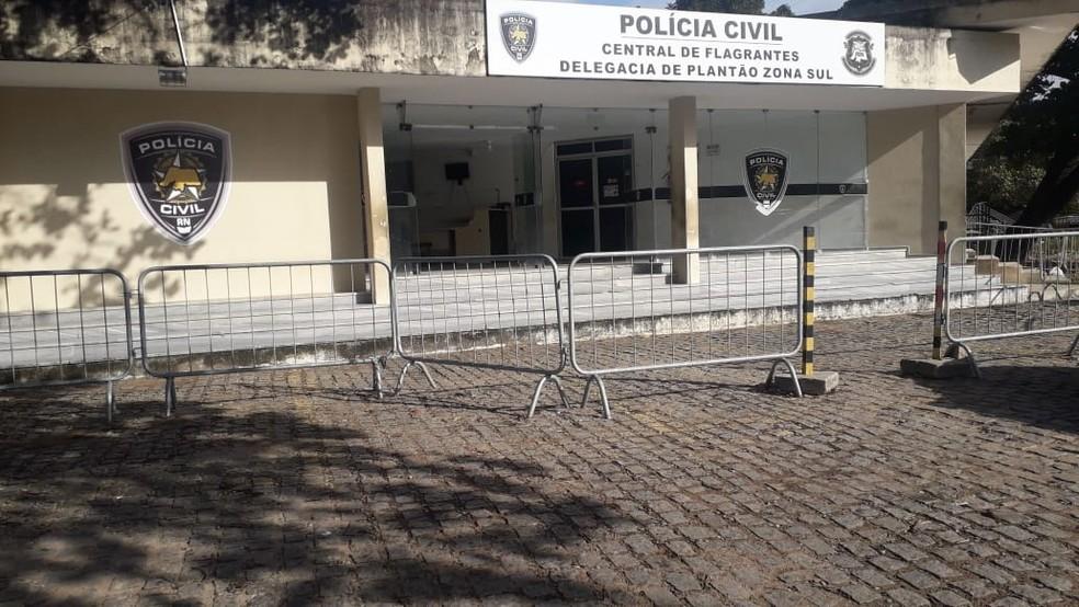 Arrastão na pousada foi registrado na Delegacia de Plantão da Zona Sul de Natal — Foto: Klênyo Galvão/Inter TV Cabugi