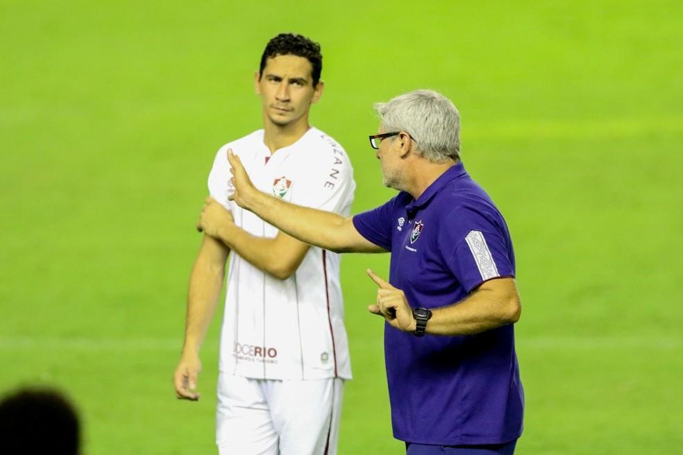 Ganso teve boa atuação, mas não conseguiu furar retranca — Foto: Marlon Costa/Pernambuco Press