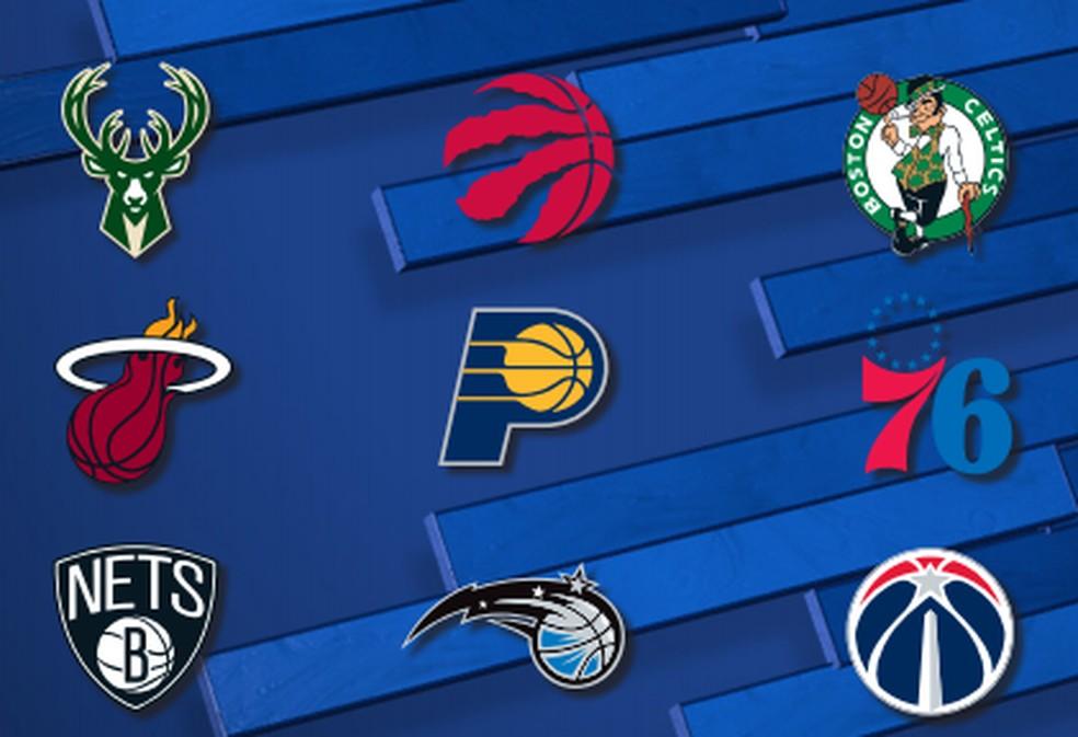 Times da Conferência Leste que estarão na Disney — Foto: Divulgação NBA