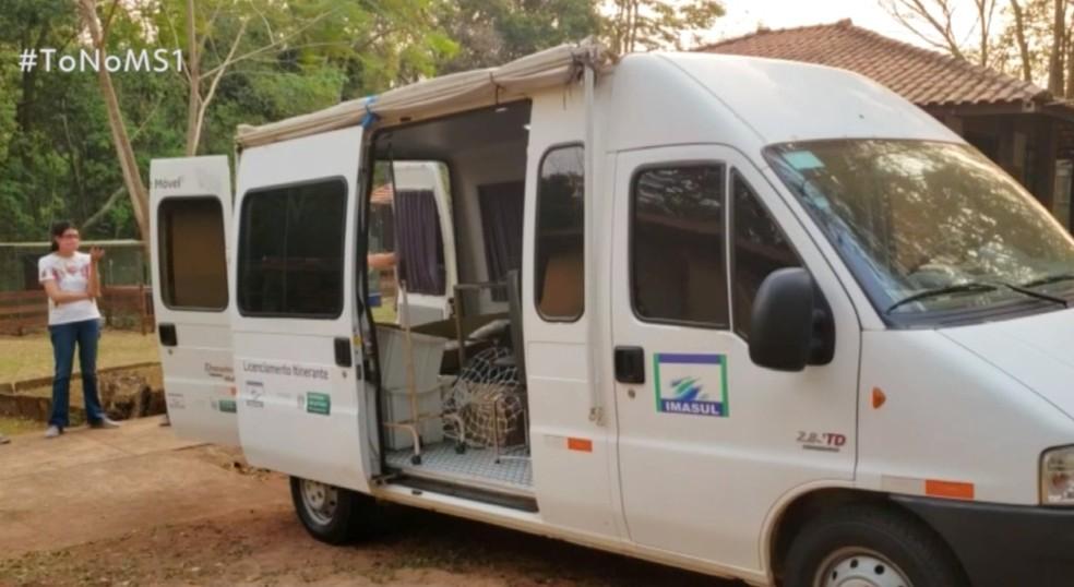 Unidade móvel já está disponível para socorrer animais silvestres vítimas de incêndios em MS. — Foto: Reprodução/TV Morena