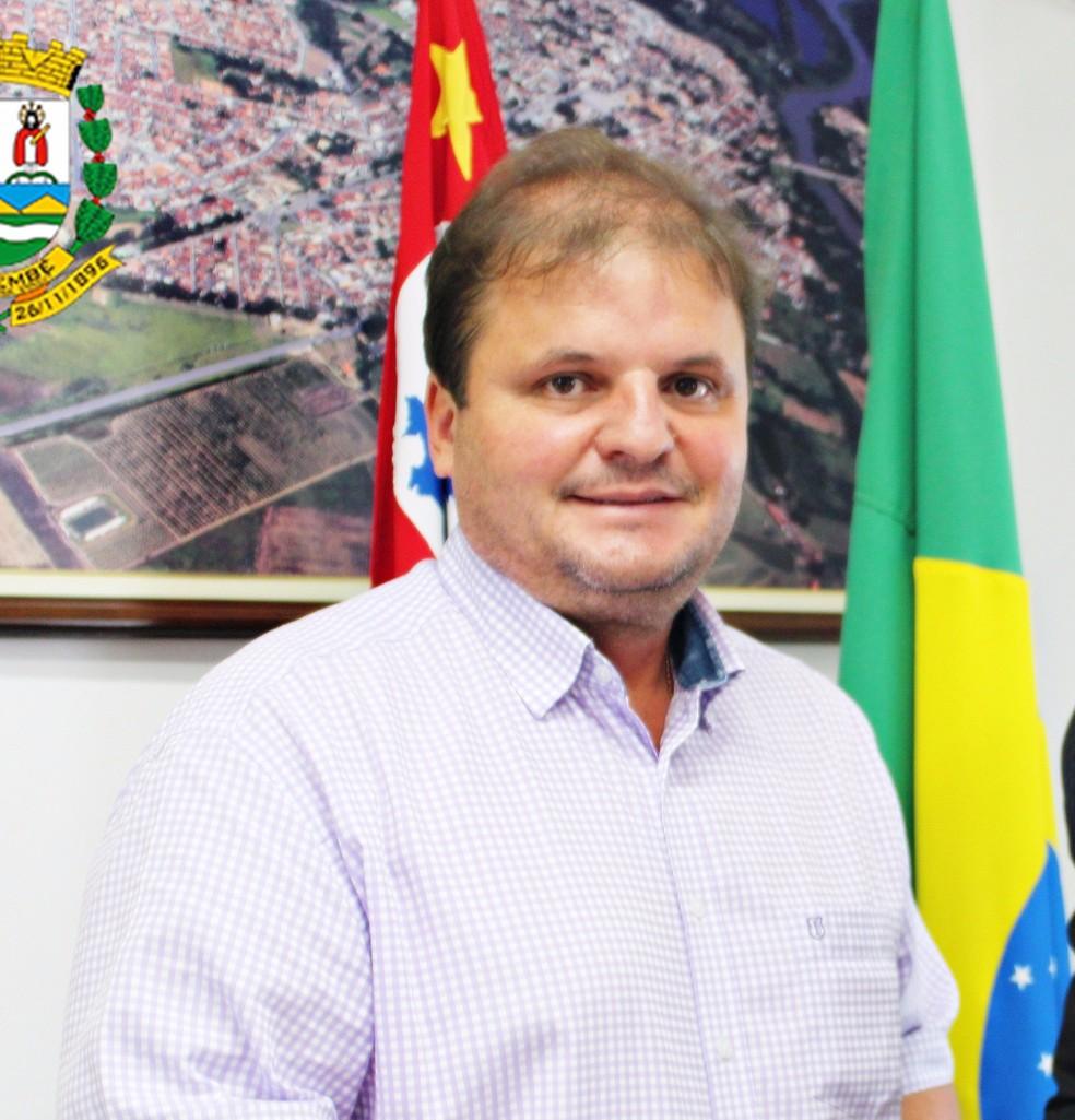 Justiça determinou afastamento de prefeito de Tremembé, Marcelo Vaqueli — Foto: Divulgação/ Câmara de Tremembé