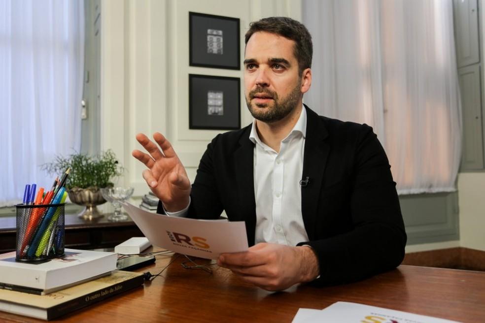 Eduardo Leite, governador do Rio Grande do Sul — Foto: Felipe Dalla Valle/Palácio Piratini