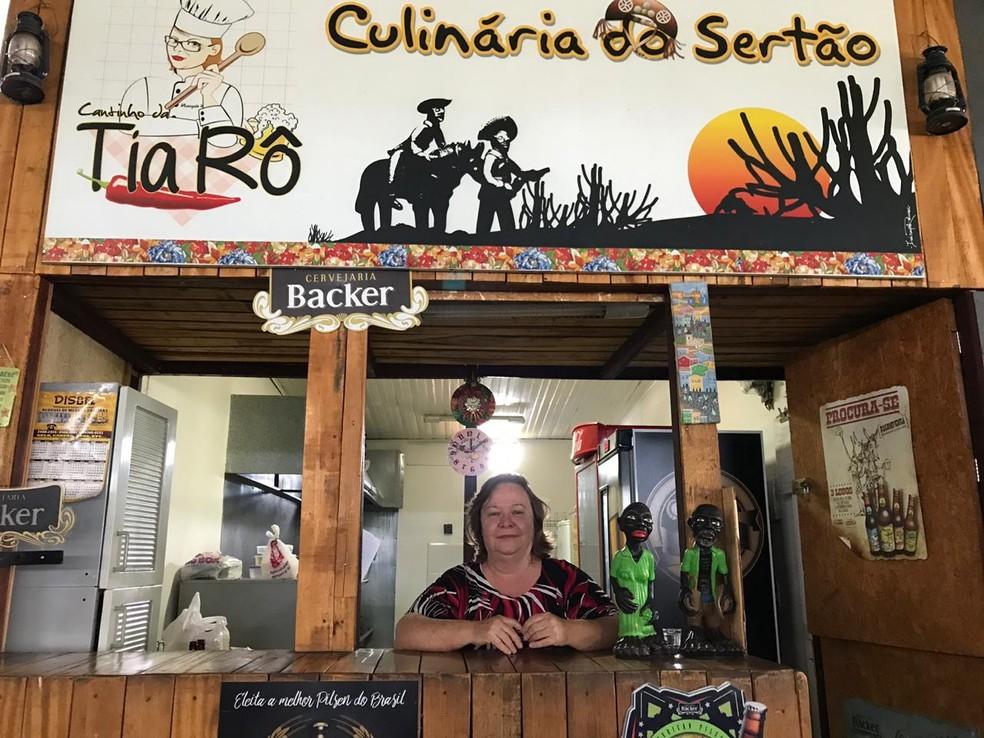 Restaurante da Tia Rô: berço da campanha do governador eleito do DF, Ibaneis Rocha  — Foto: Letícia Carvalho/G1