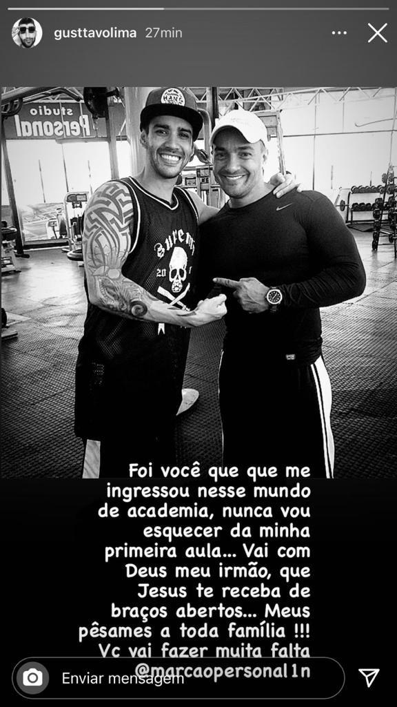 Gusttavo Lima lamenta morte de personal trainer (Foto: Reprodução/Instagram)