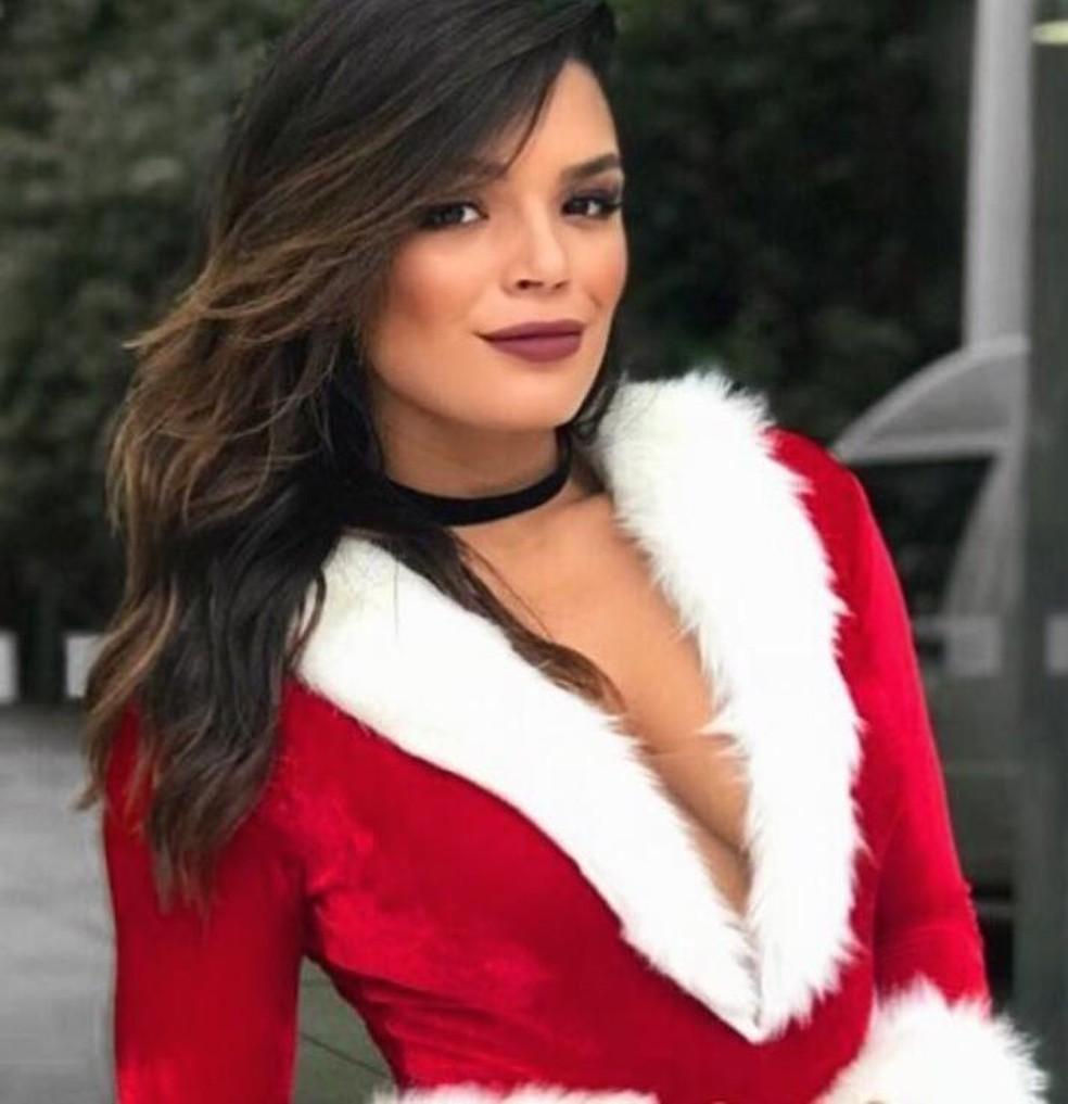 Nathália Zannin deseja feliz Natal para todos! — Foto: Arquivo Pessoal