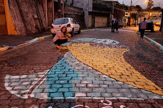 Ruas pintadas Copa do Mundo 2014 (Foto: divulgação)