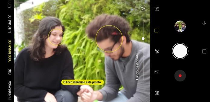 Câmera dupla fracassa em modo retrato; situação se repetiu algumas vezes (Foto: Reprodução/Thássius Veloso)