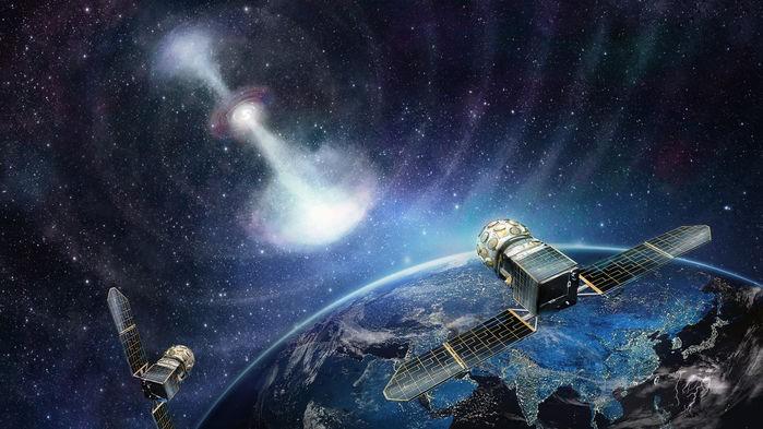 Ilustração dos satélites da GECAM, que serão lançados em 2020 (Foto: INSTITUTE OF HIGH ENERGY PHYSICS, CAS)