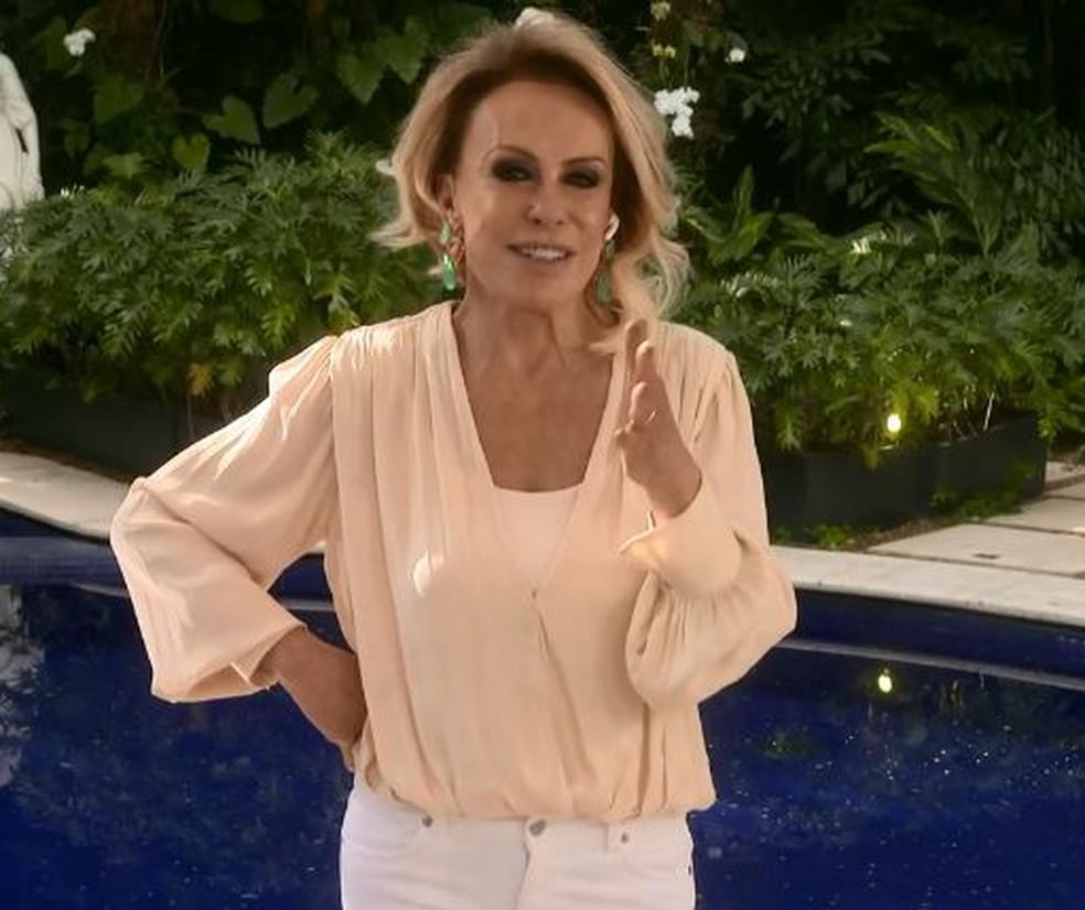 Ana Maria Braga está curada de pneumonia — Foto: Globo