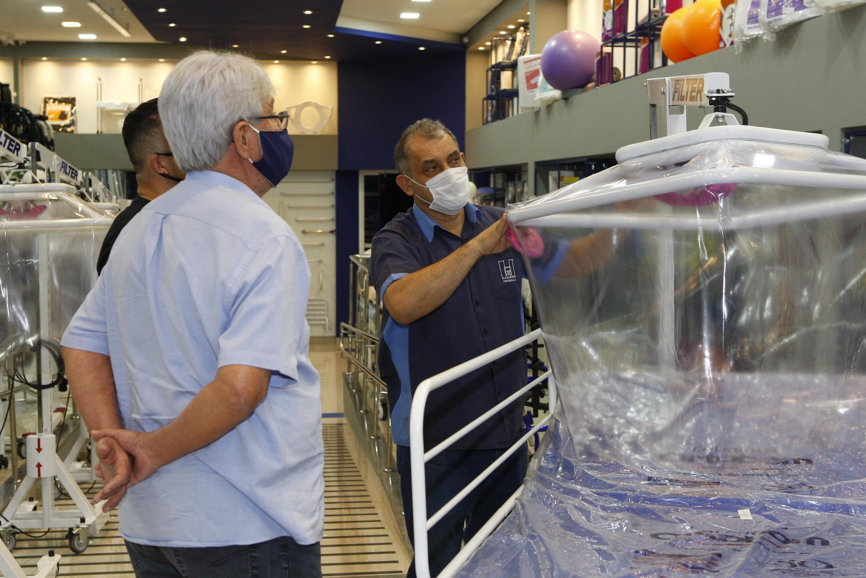 Cápsulas respiratórias para  tratamento da Covid-19 são adquiridas em Uberlândia
