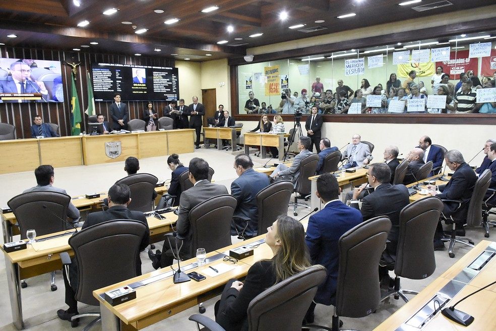Assembleia Legislativa do RN rejeita reajuste de 16% a servidores do Estado — Foto: Eduardo Maia/Assecom AL