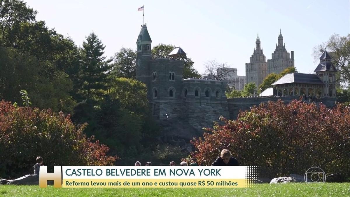 Conheça Beldevere, o castelo do parque mais famoso do mundo, o Central Park - G1