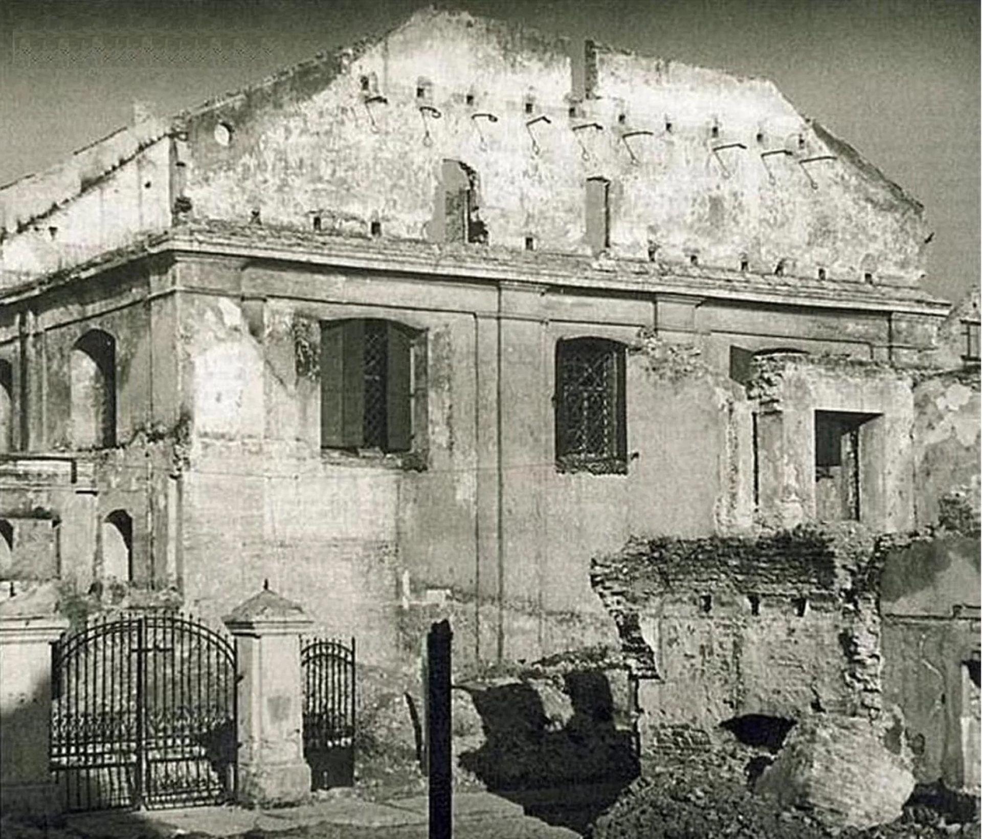 Grande Sinagoga de Vilna foi destruída após incêndio provocado durante a Segunda Guerra Mundial (Foto: Vilna Great Synagogue and Shulhoyf Research Project)