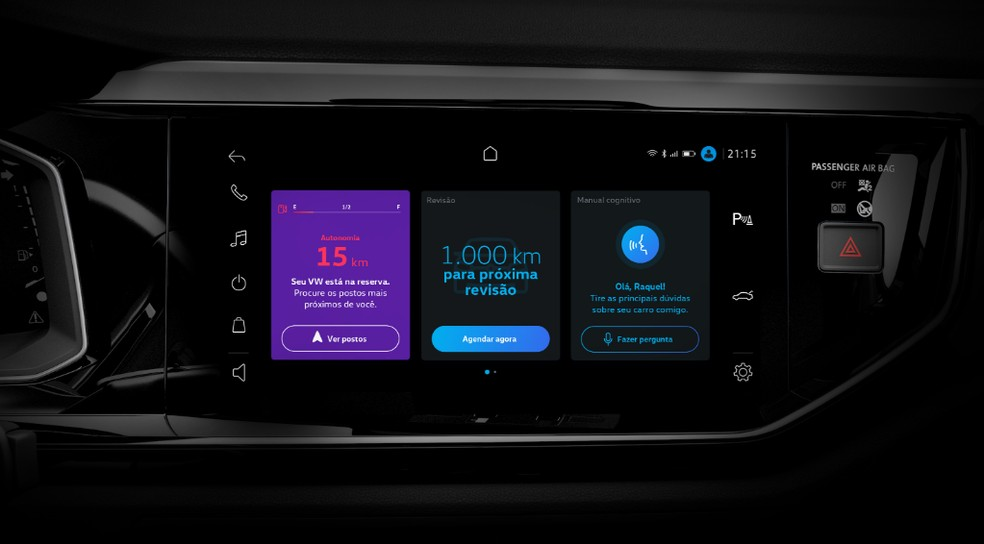 VW Play mostra detalhes do carro, como revisão, abastecimento e oferece tira dúvidas — Foto: Divulgação/Volkswagen