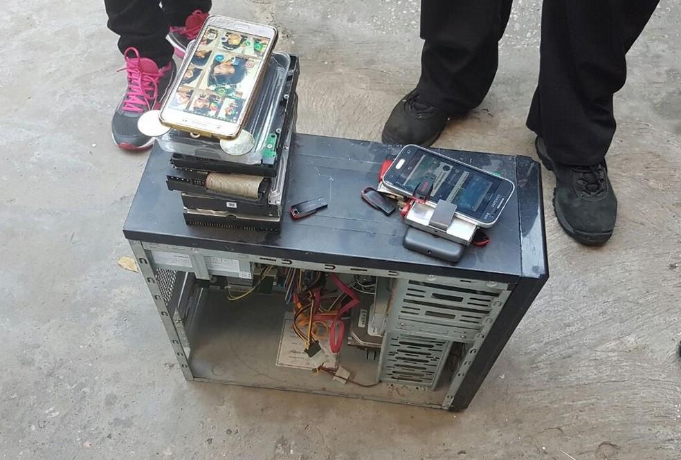 Equipamentos eletrônicos (Foto: Divulgação/Polícia Civil)