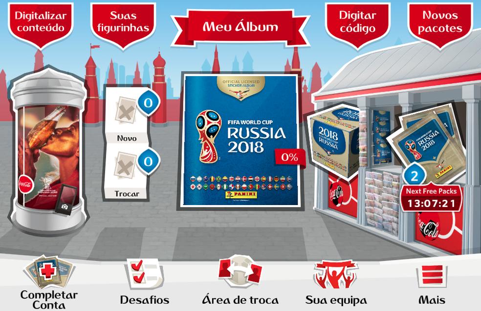 Crie uma conta no Álbum Virtual da Copa do Mundo 2018 (Foto: Reprodução/Felipe Vinha)