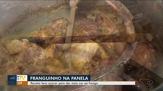 Raspando a panela: cozinheira do Norte do ES ensina receita de frango assado