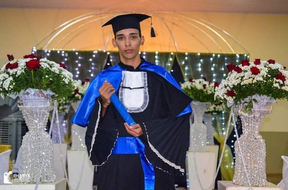 Estudante Gabriel Rodrigues Ribeiro, de 18 anos — Foto: Rhanya Monyque