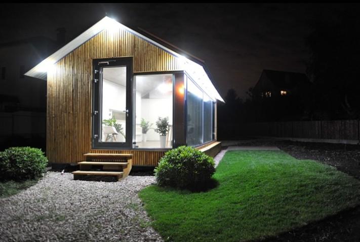 Protótipo da casa sustentável da Dom.ai na Ucrânia  (Foto: Divulgação)