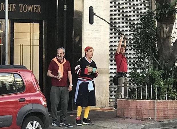 Tom Cavalcante roda cenas de filme em São Paulo (Foto: Arrigo Araújo)