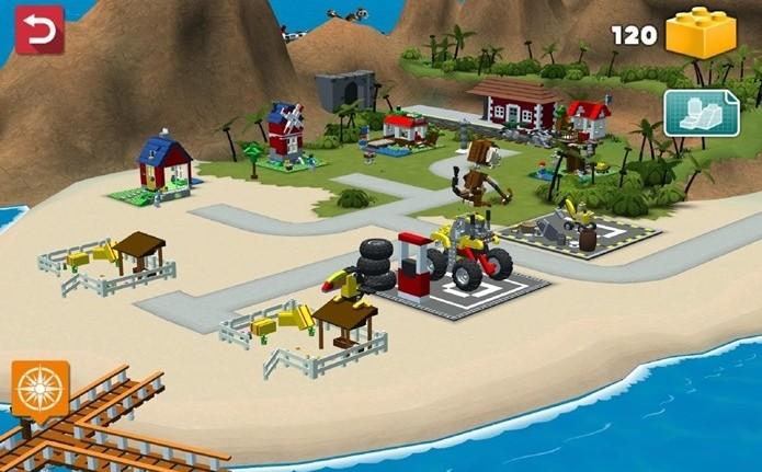 Novo jogo da LEGO para Android onde você tem que construir ilhas paradisíacas (Foto: Divulgação)