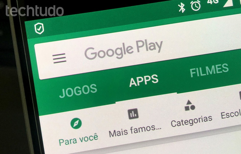 O Google Play é o banco de aplicativos do Android — Foto: Rodrigo Fernandes/TechTudo