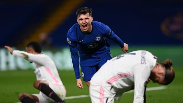 Mount comemora, e merengues lamentam: Chelsea elimina o Real Madrid