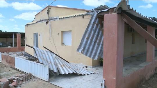Vendaval destrói casa e deixa três feridos em São Domingos, Sertão da PB