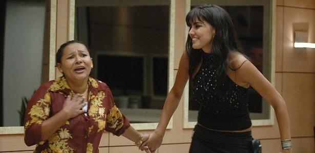 Mara com Mariana Felício no 'BBB' (Foto: TV Globo)