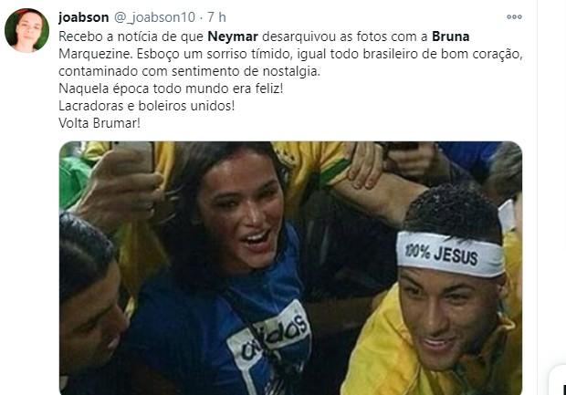 Neymar desarquiva fotos com Bruna Marquezine e fãs comemoram  (Foto: Reprodução/Instagram)
