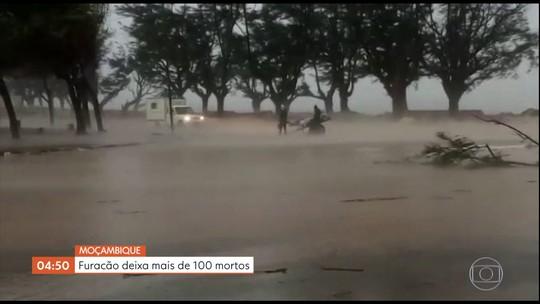 Furacão deixa mais de 100 mortos em Moçambique