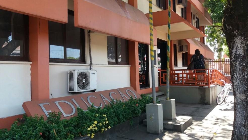 -  Secretaria de Estado da Educação do Amapá fica no Centro de Macapá  Foto: Jorge Abreu/G1