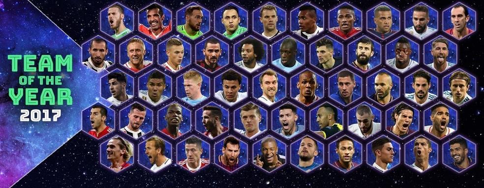 Uefa divulga candidatos ao time do ano com seis brasileiros (Foto: Uefa)
