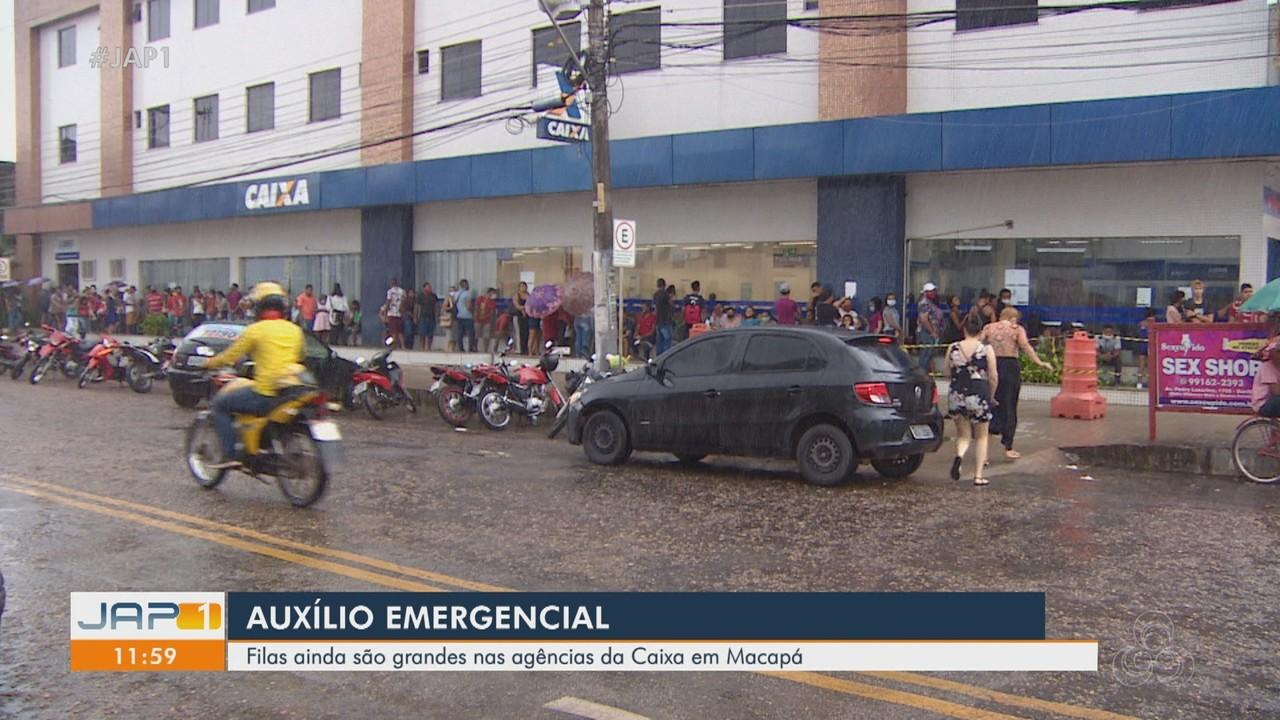 Macapaenses formam grandes filas em busca de auxílio emergencial no AP