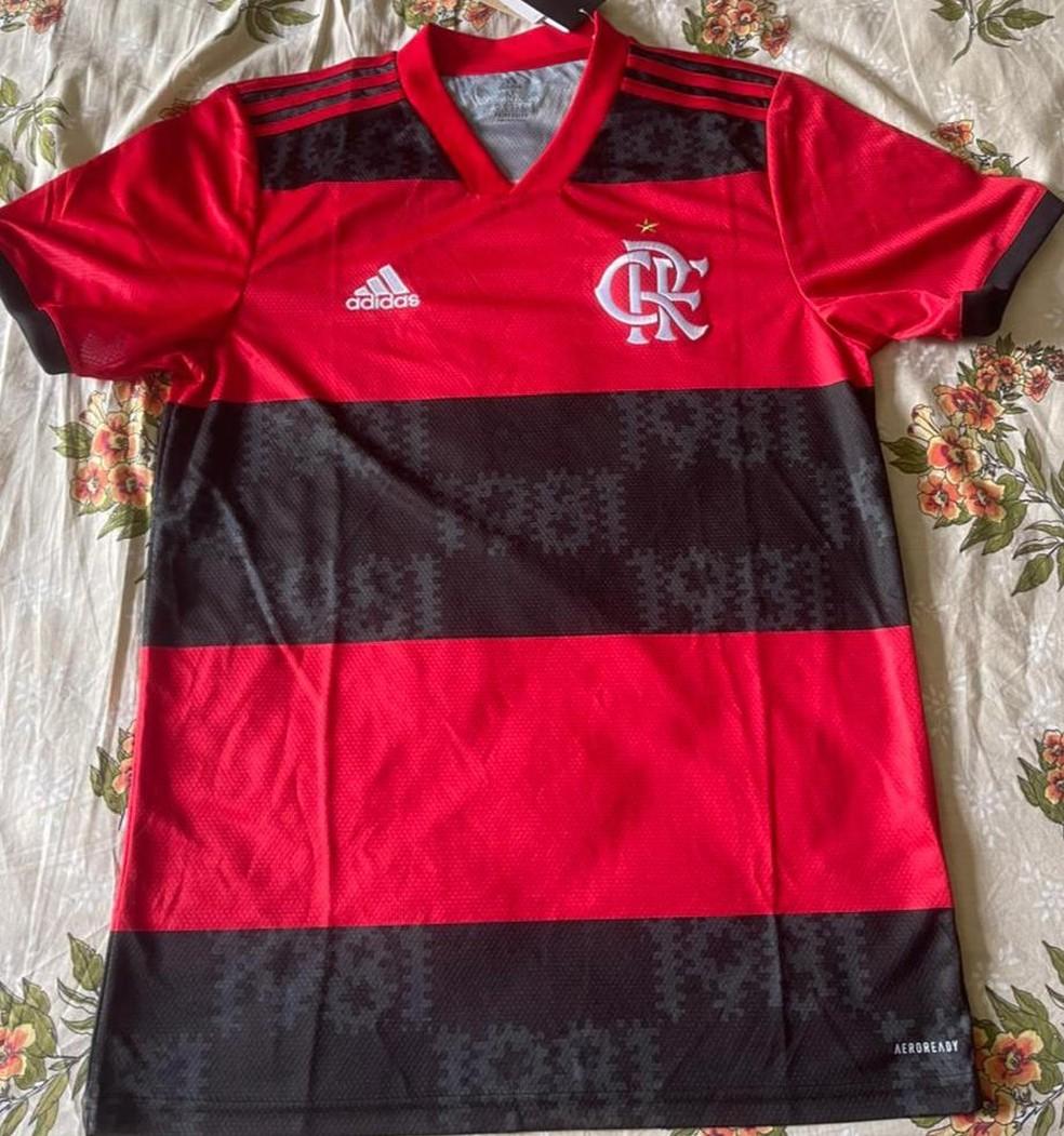 Nova camisa do Flamengo para a temporada 2021 — Foto: ge