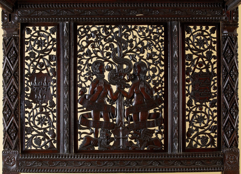 Detalhes da cama que pertencia a Henrique VII (Foto: Divulgação/The Langley Collection)
